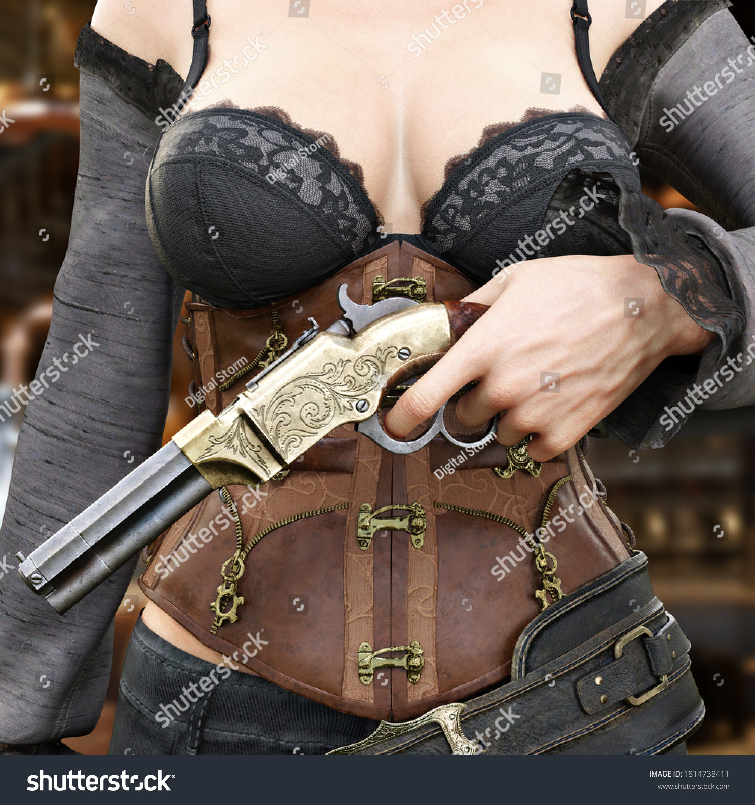 Sexy Saloon Girl