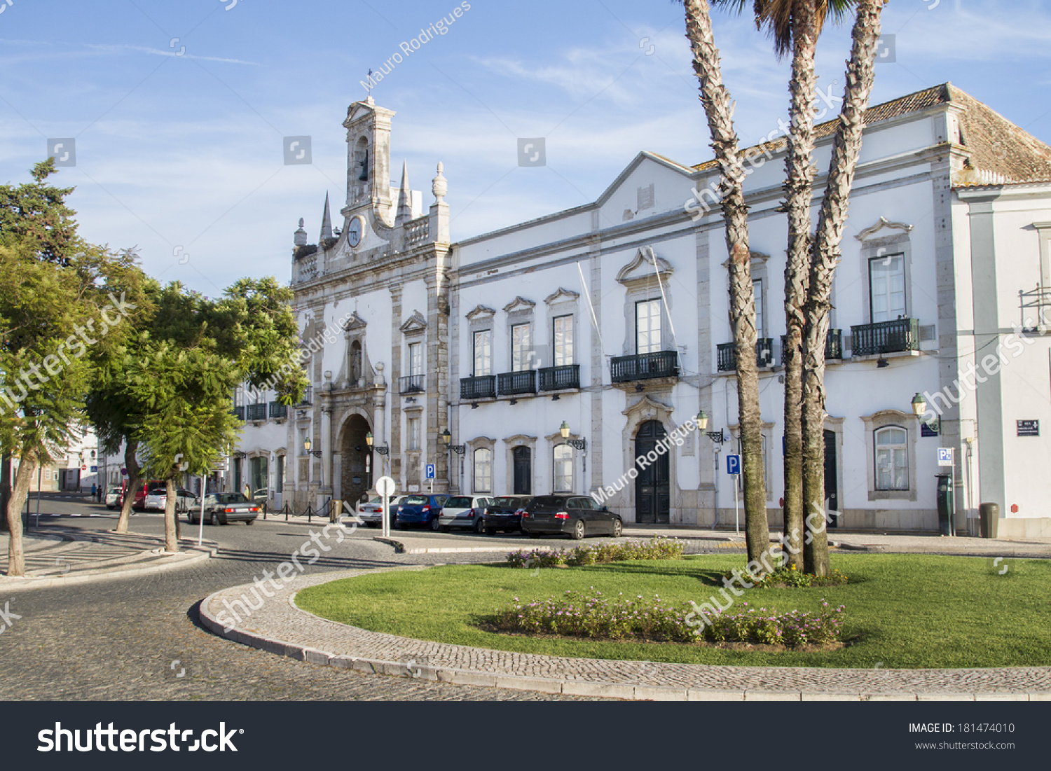 Great View Of The Iconic Landmark Church Of The City Of Faro, Portugal. Nice Look