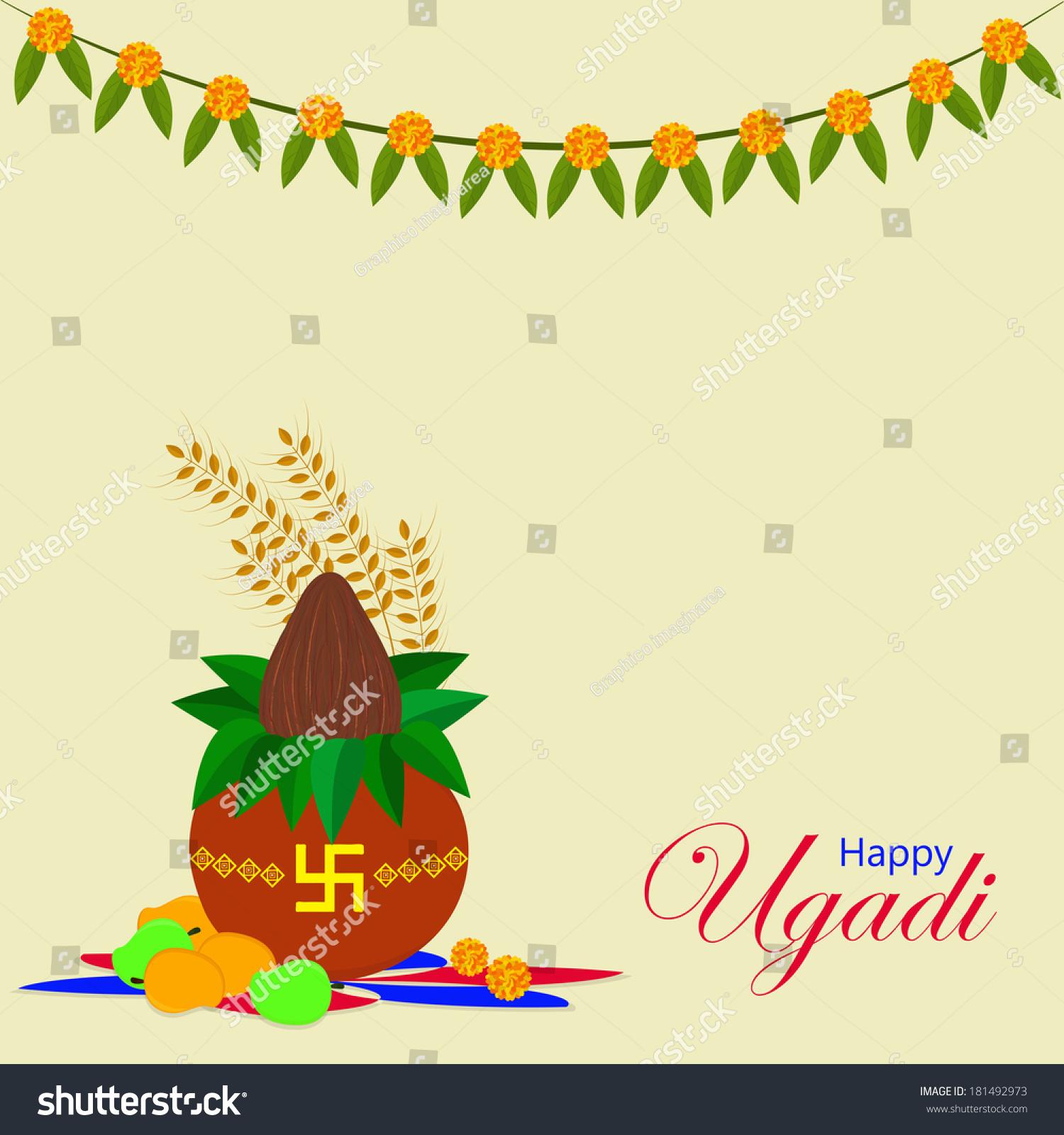 Ugadi Gudi Padwa New Years Day Stock Vector 181492973 Shutterstock