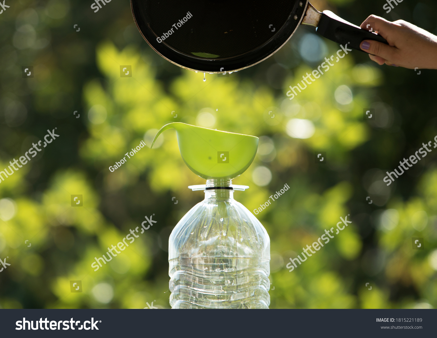 Collection and recycling of used household edible oil. #1815221189