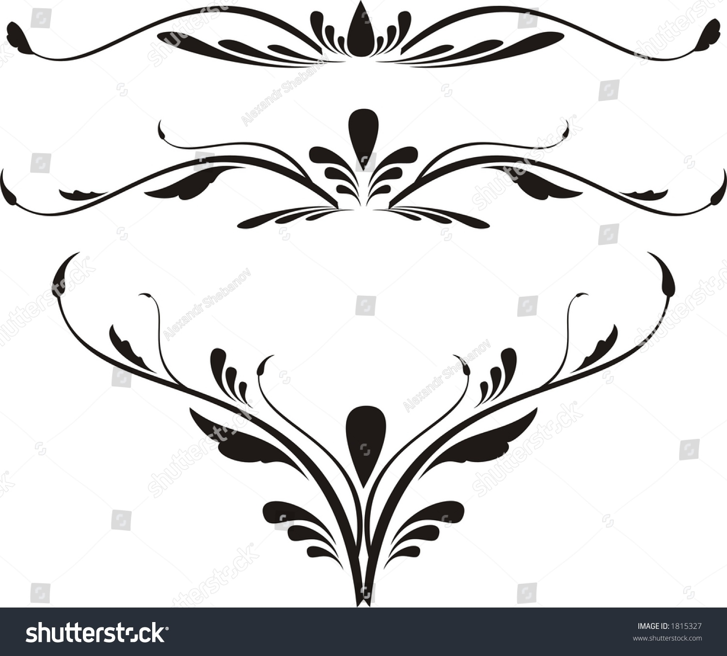 Abstract Calligraphy Stock Illustration 1815327 Shutterstock