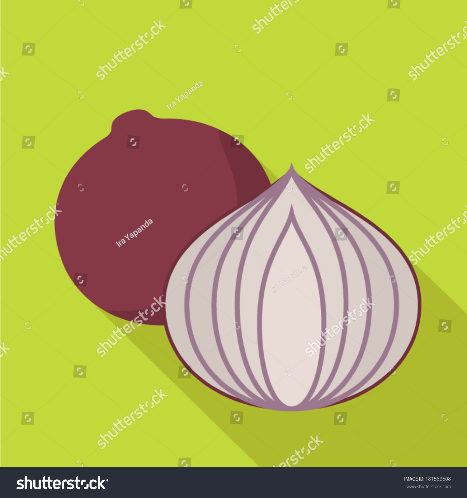 Interior designs medium size vertically growing onions growing onions - Onion Flat Design Vector