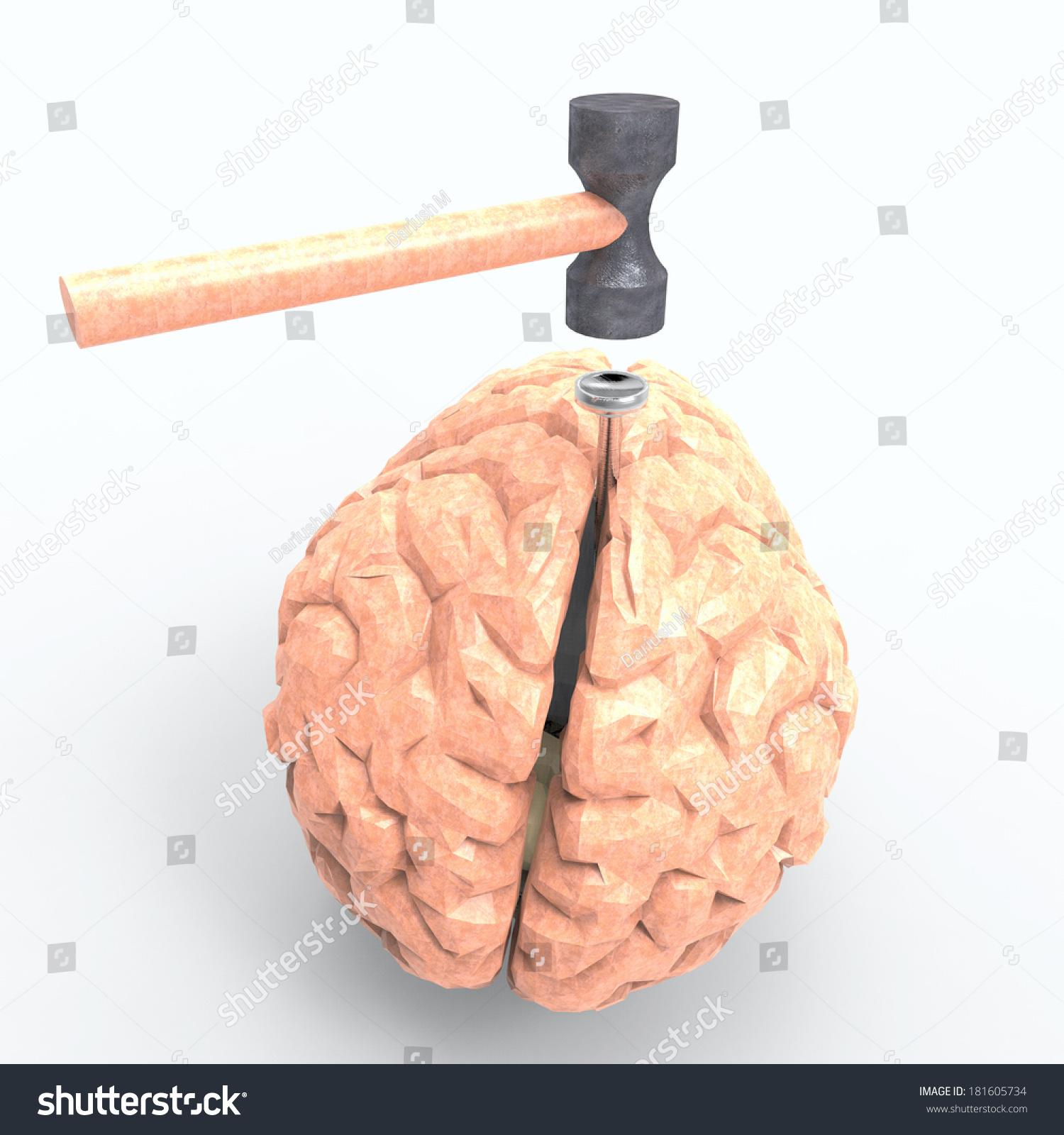 Hitting Nail On Head Stock Illustration 181605734 - Shutterstock