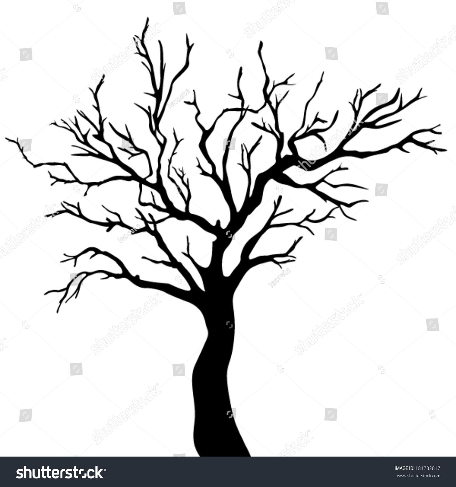 Winter Tree Silhouette Clip Art Bare tree silhouette stock photos ...