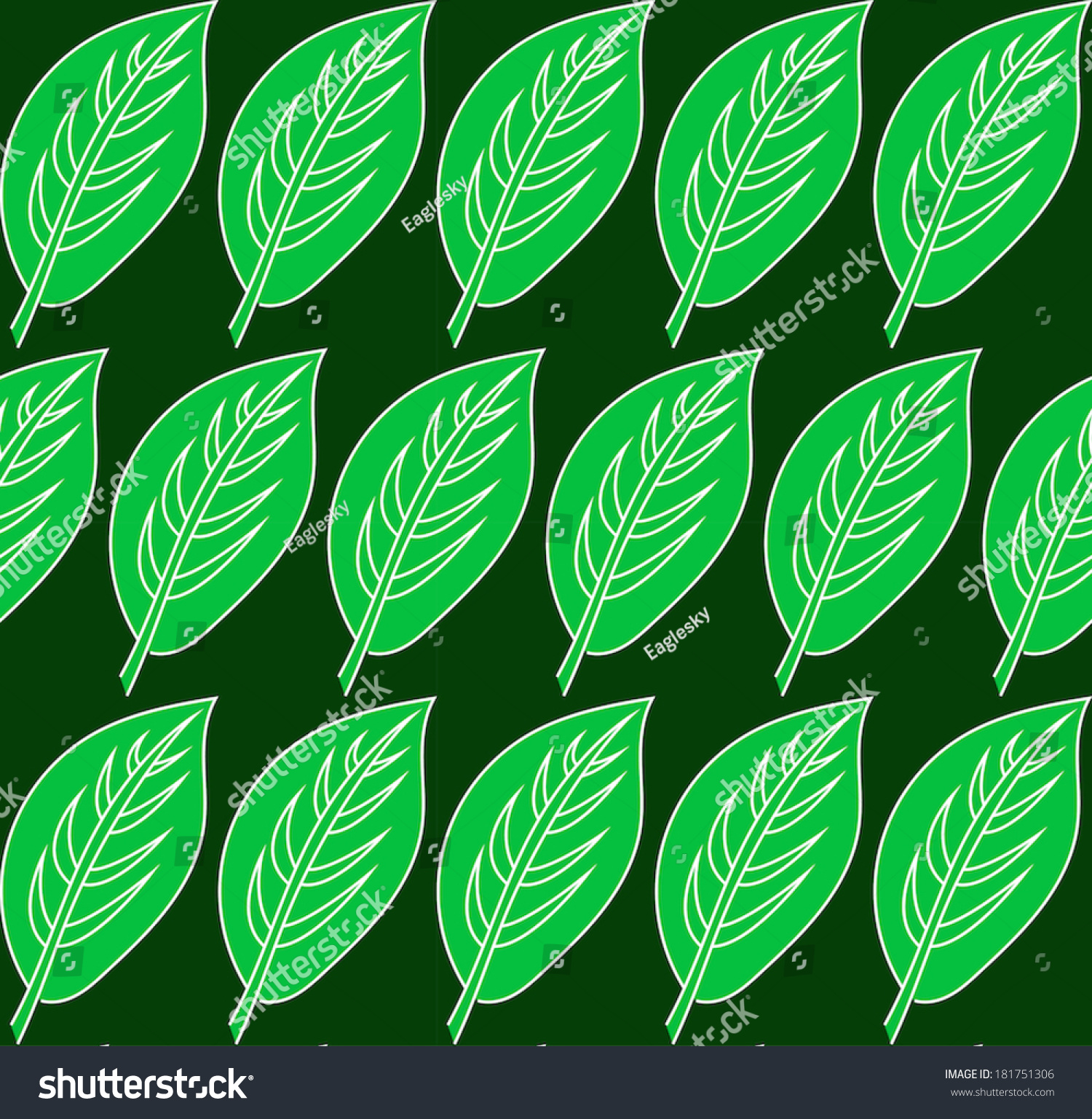green leaf pattern vector seamless patterns stock vector