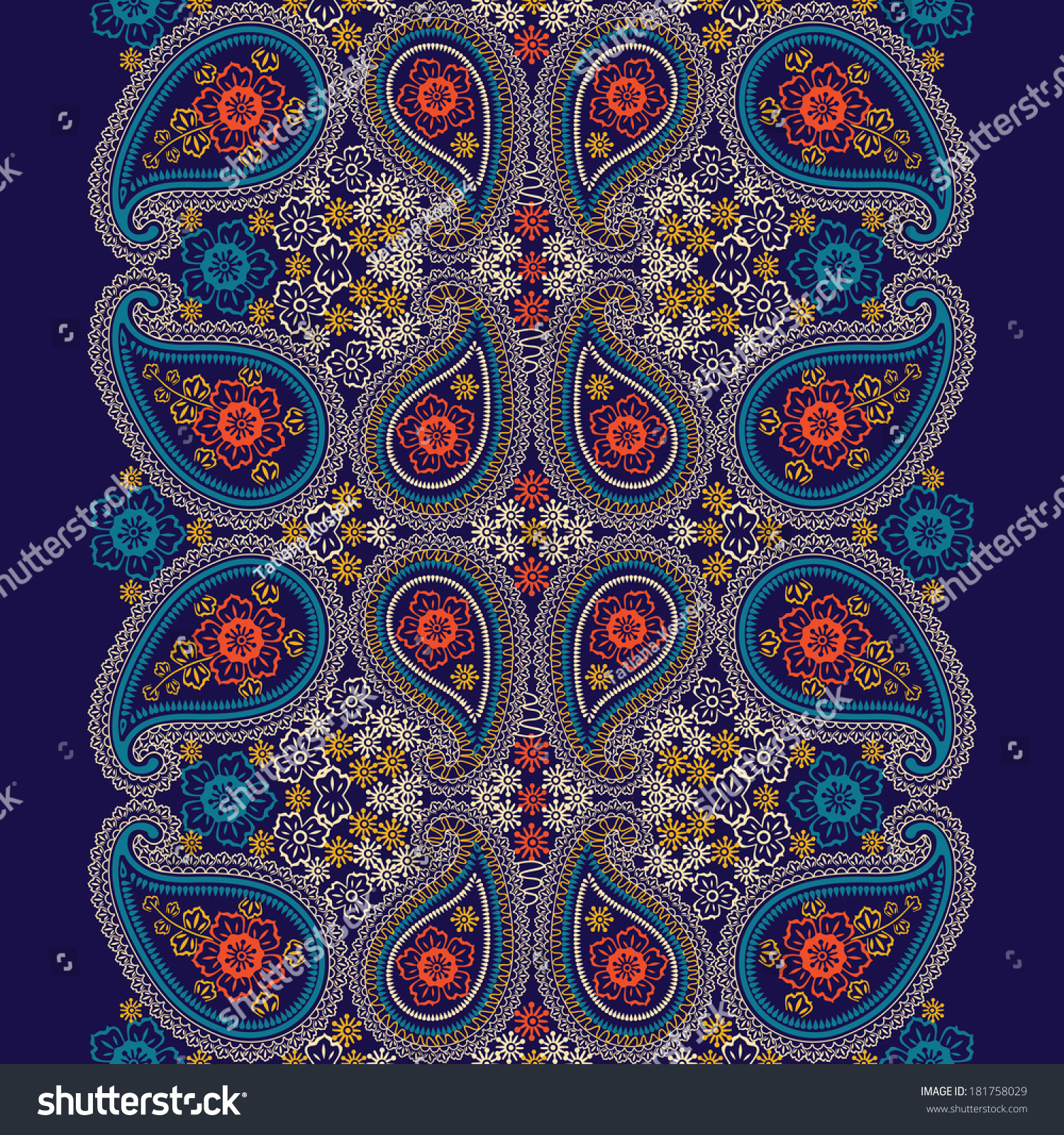 turkish cucumbers oriental motif lace seamless border ornament for fabrics wallpaper. Black Bedroom Furniture Sets. Home Design Ideas