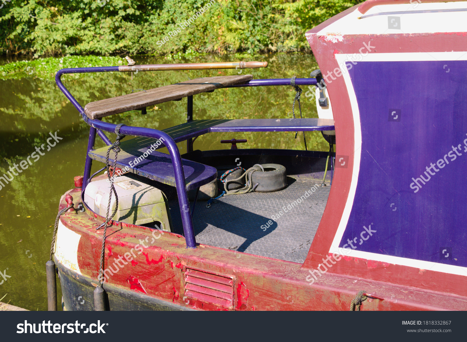 The stern of a canal boat