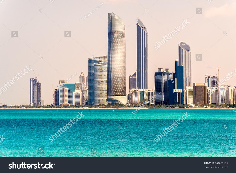 Abu Dhabi United Arab Emirates  City pictures : Abu Dhabi Skyline, United Arab Emirates Stock Photo 181867136 ...