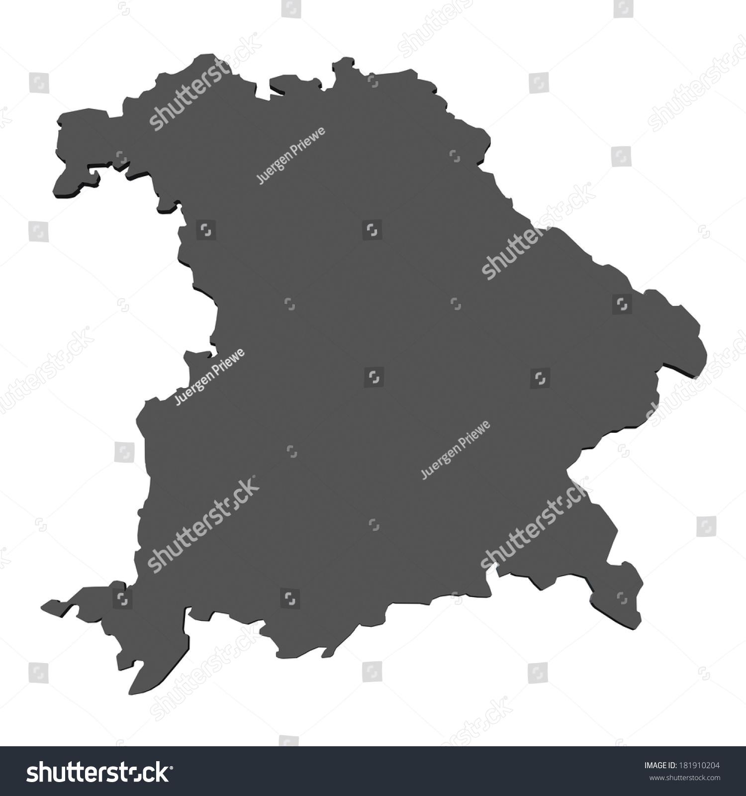 Map bavaria germany stock illustration 181910204 shutterstock map of bavaria germany sciox Image collections