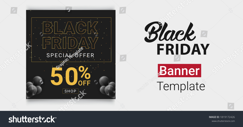 Black Friday Furniture Web Banner Black Stock Vector Royalty Free 1819172426