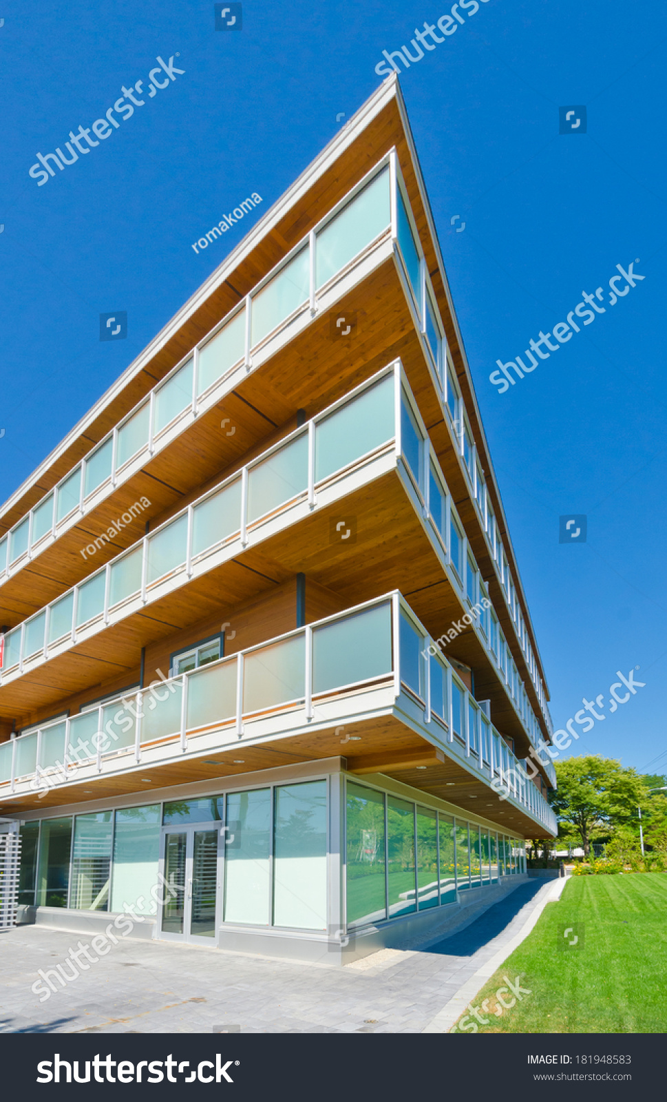Perspective Outlook Modern Glass Wood Steel Stock Photo Edit Now