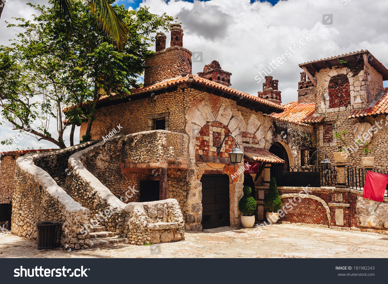 Ancient village altos de chavon colonial stock photo - Casa de campo park ...