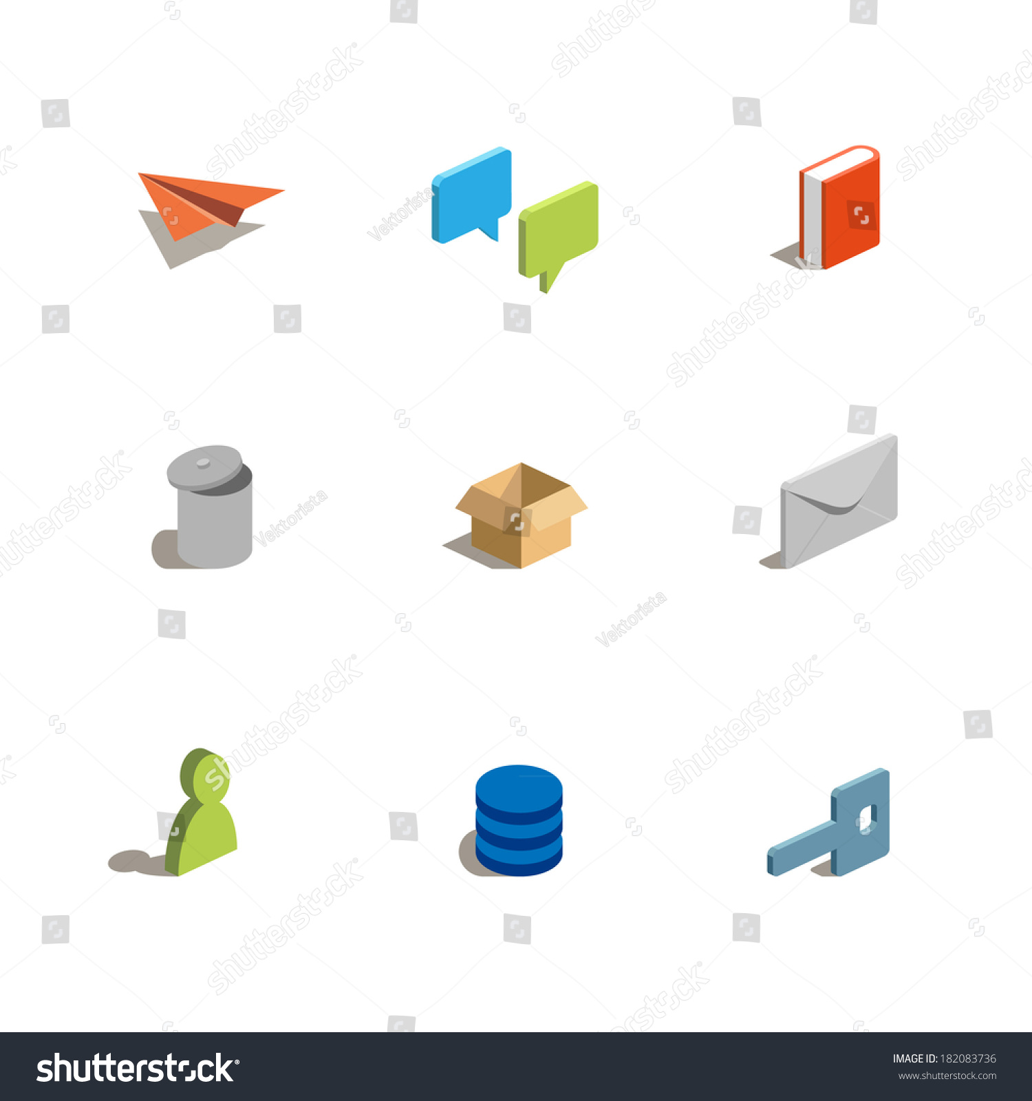 Stock Vector A Set