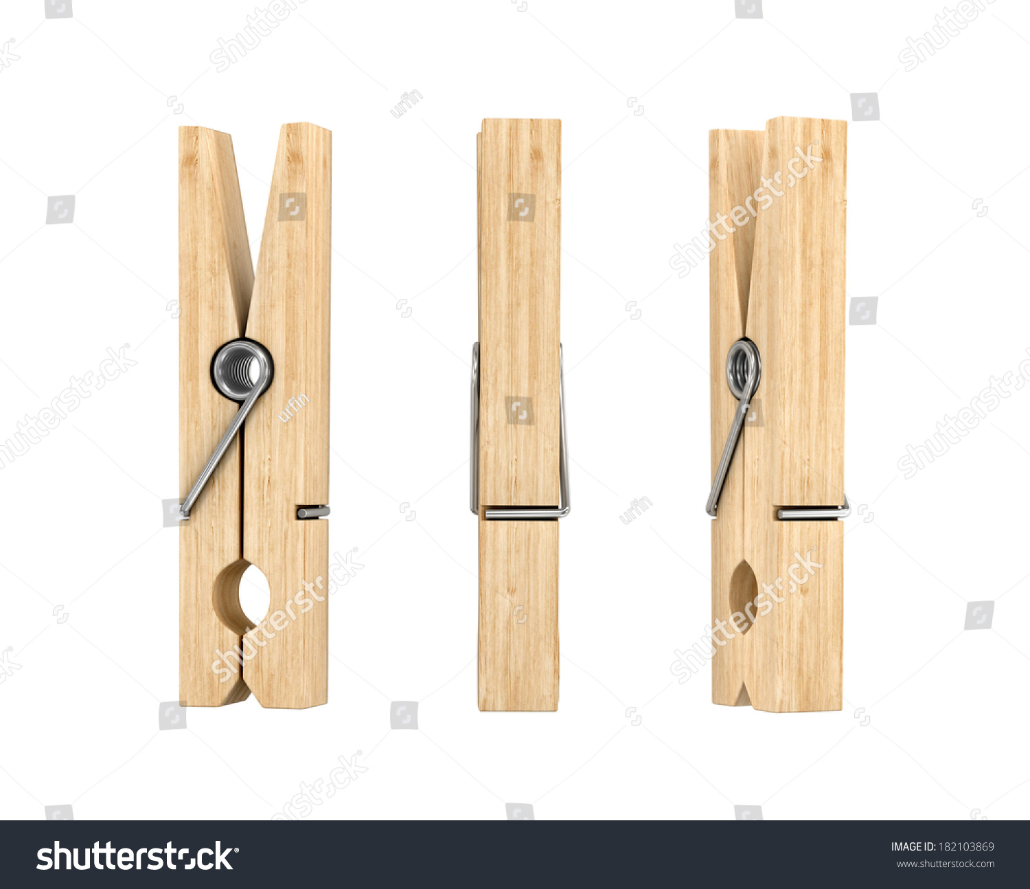 wooden cloth pegs isolated on white stock illustration 182103869 shutterstock. Black Bedroom Furniture Sets. Home Design Ideas