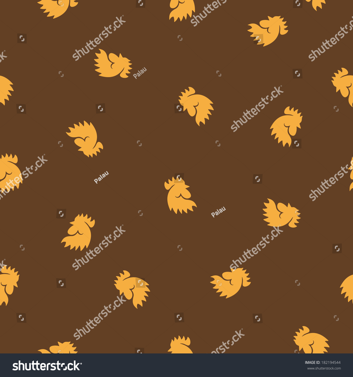 Seamless background cock vector illustration design stock vector 182194544 shutterstock - Cock designing ...