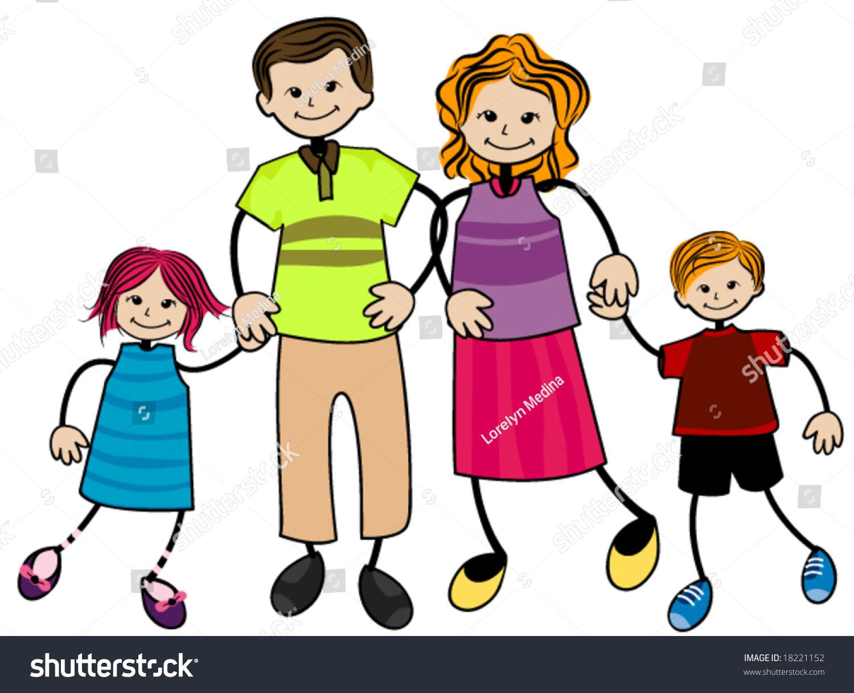 My Family Vector Stock Vector 18221152 - Shutterstock