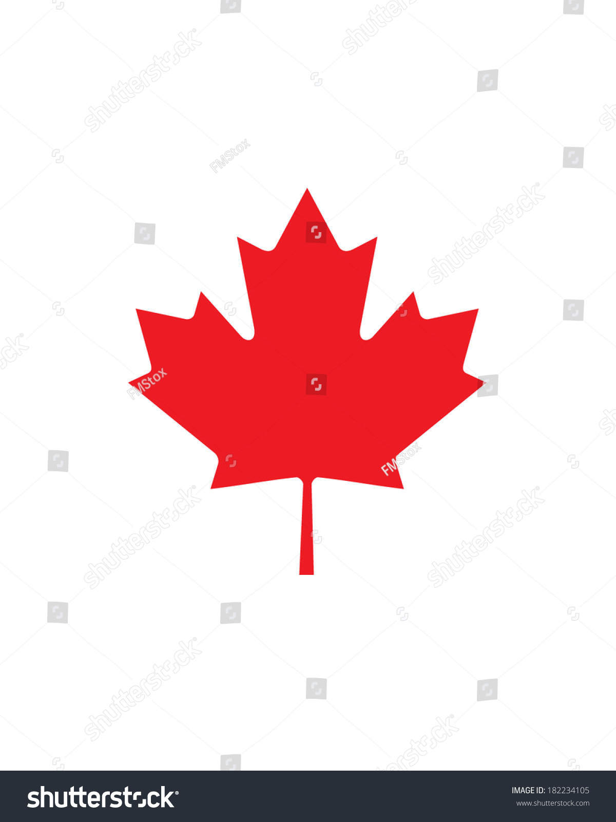 Vector Canadian Maple Leaf Icon Stock Vector 182234105 ...