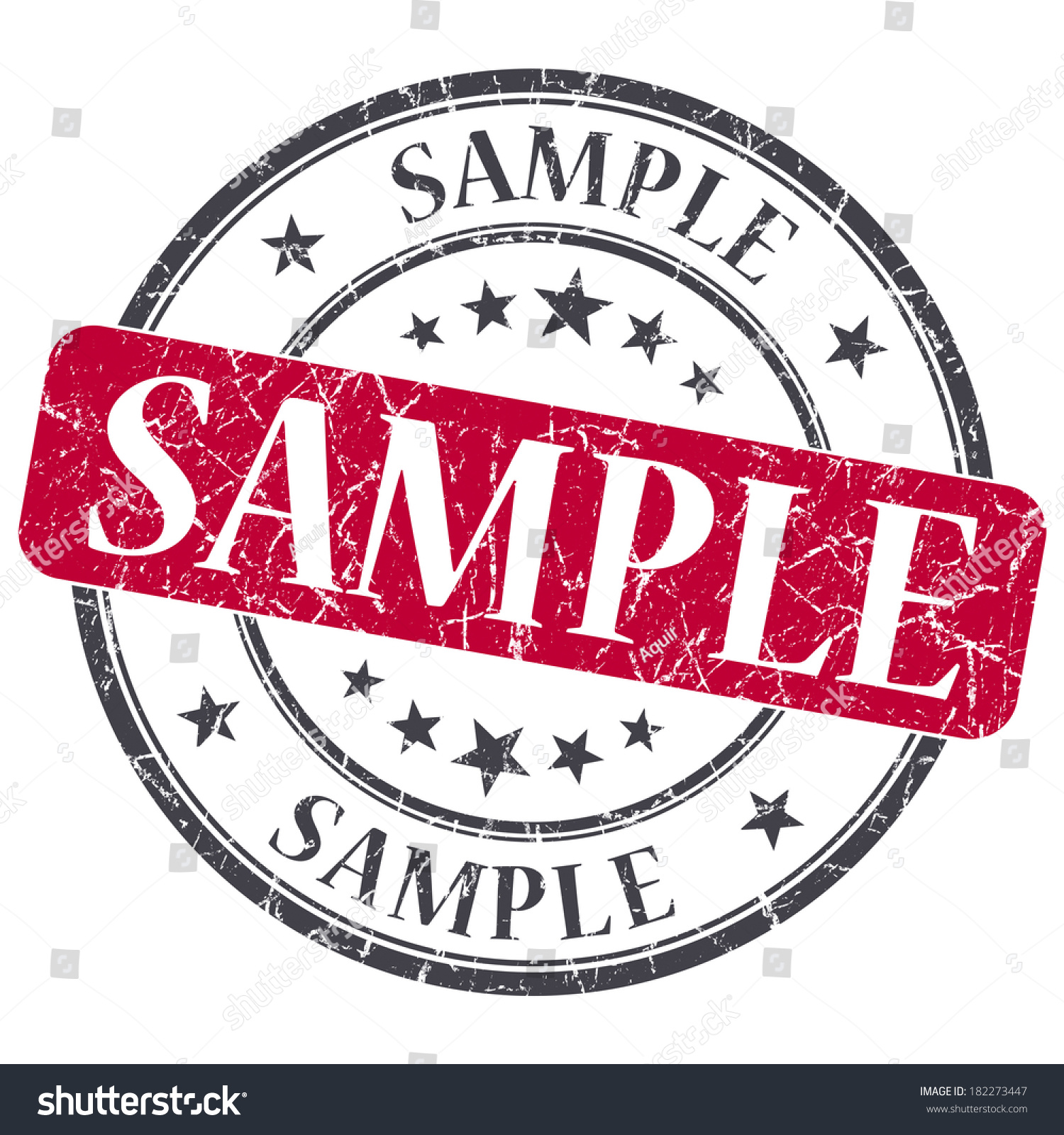 sample red grunge round stamp on stock illustration  sample red grunge round stamp on white background