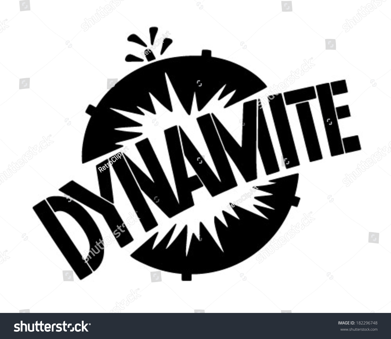 Clip Art Dynamite Clipart dynamite banner retro clip art illustration stock vector 182296748 illustration