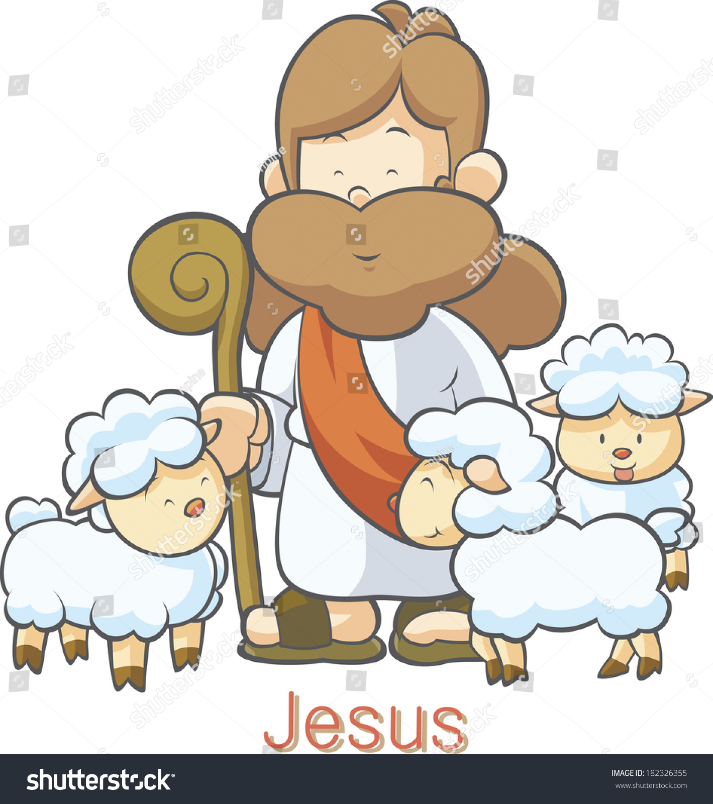 clipart of jesus with sheep - photo #48