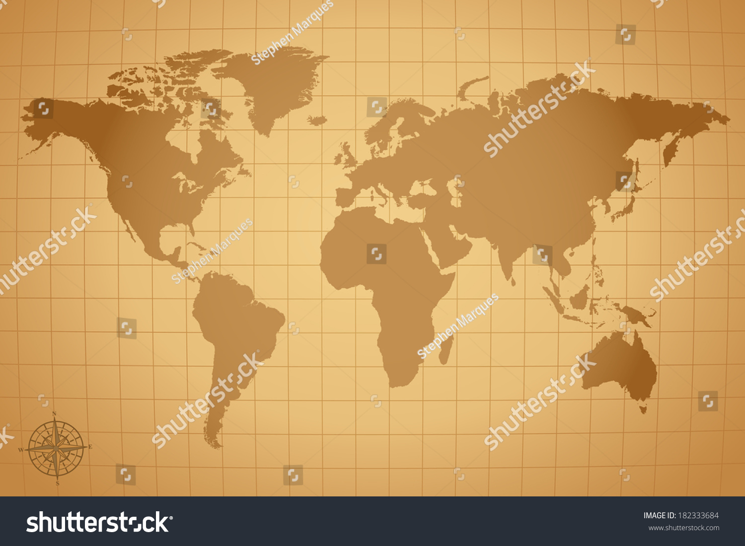 Vintage world map illustration eps vector stock illustration vintage world map illustration eps vector version also available in portfolio gumiabroncs Gallery