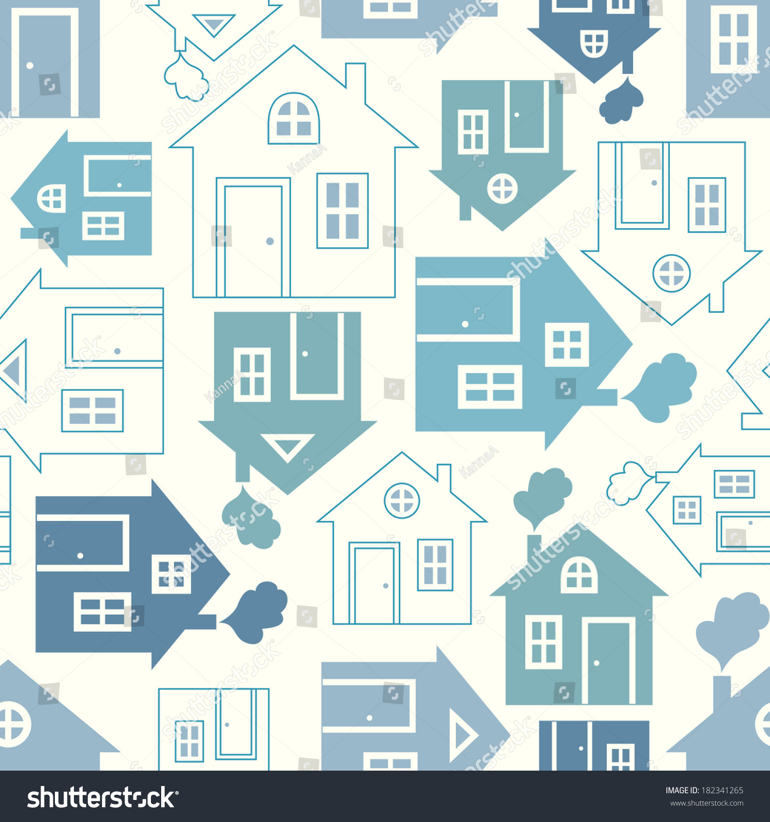 Home sweet home house silhouette outline stock vector for House pattern