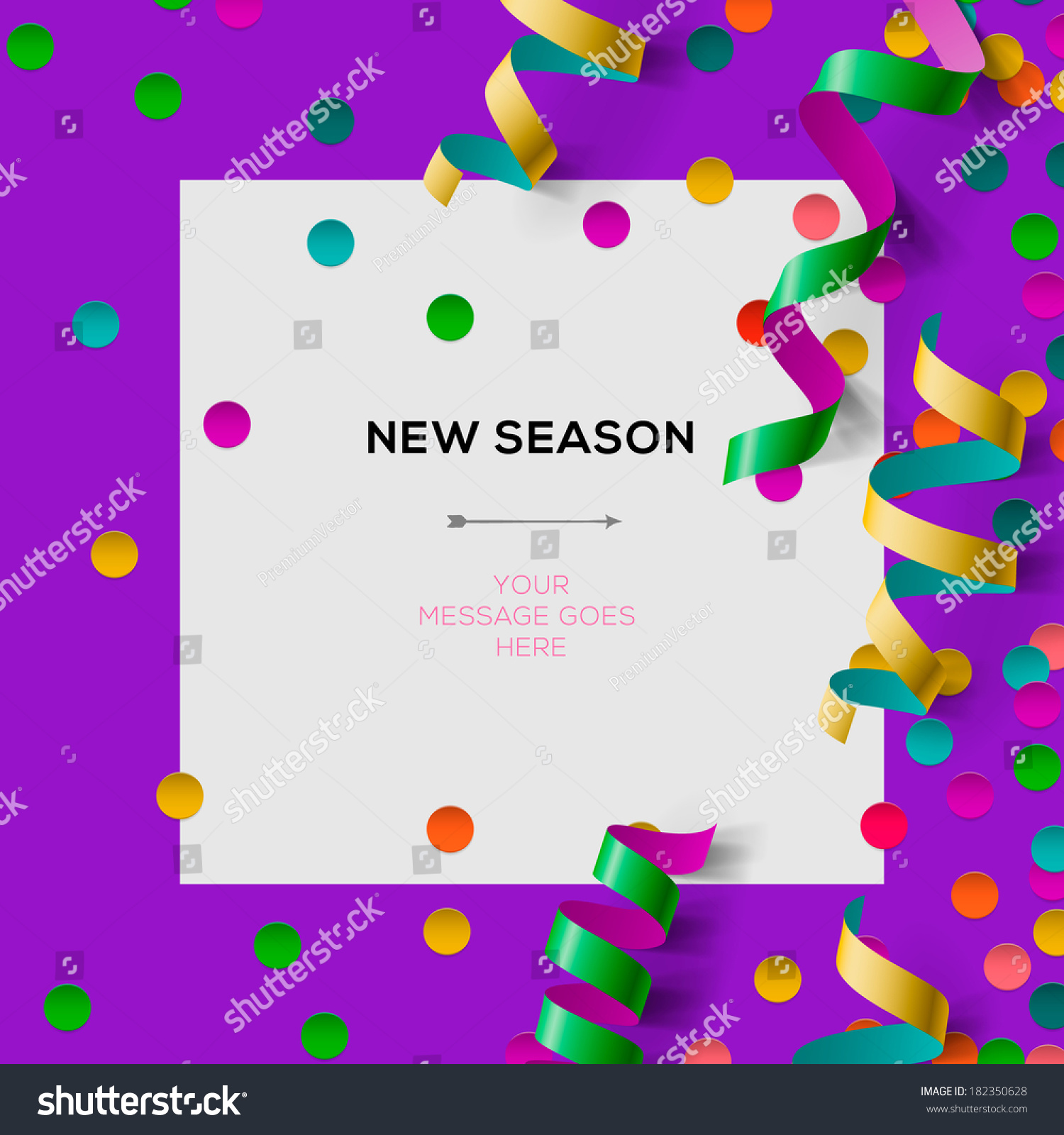new season invitation template party confetti stock vector new season invitation template party confetti office party vector illustration