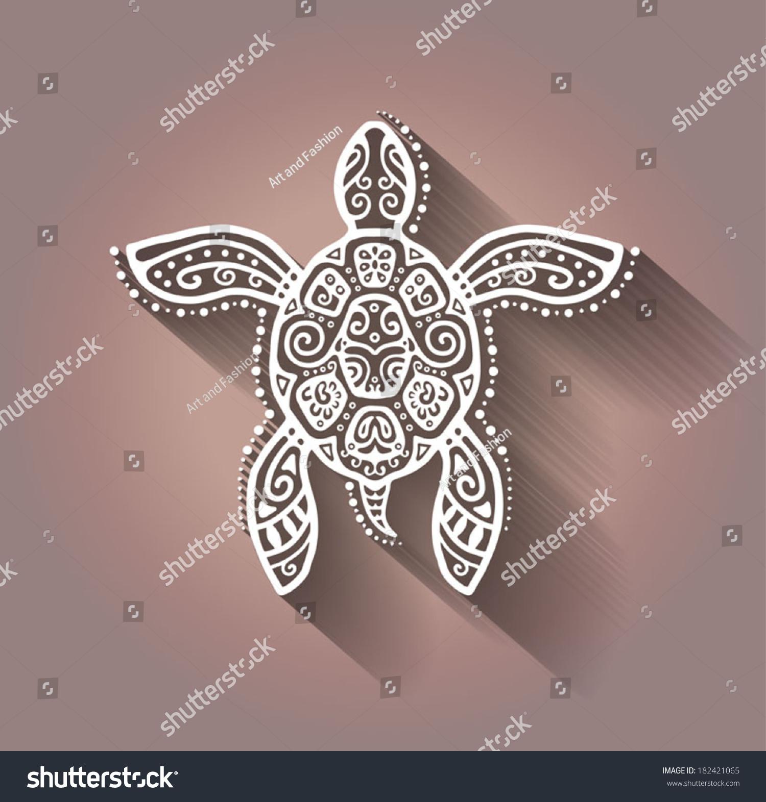 Zentangle Flower Tattoo Decorative Graphic Tur...
