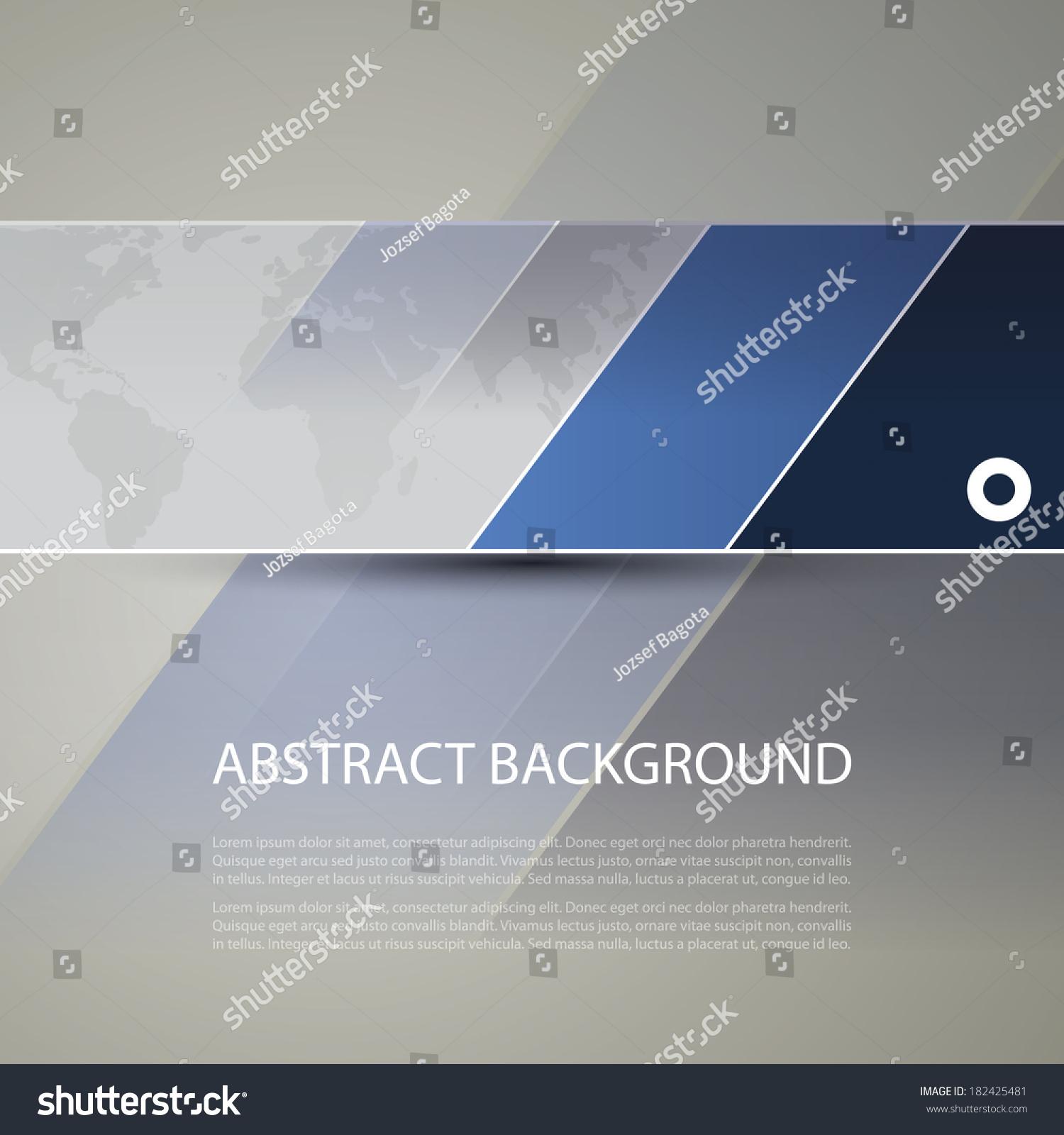 Banner Header Design World Map Background Stock Vector 182425481 ...