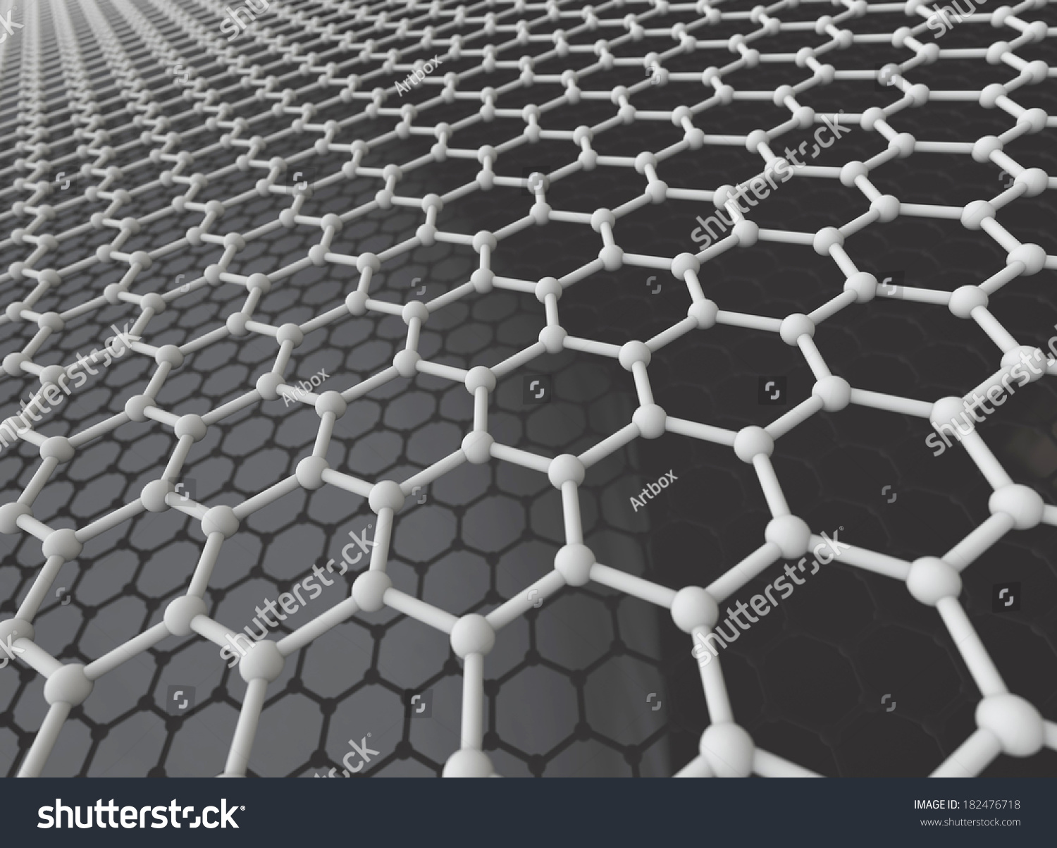 Graphene Crystal Lattice 3d Model Stock Photo 182476718 ...