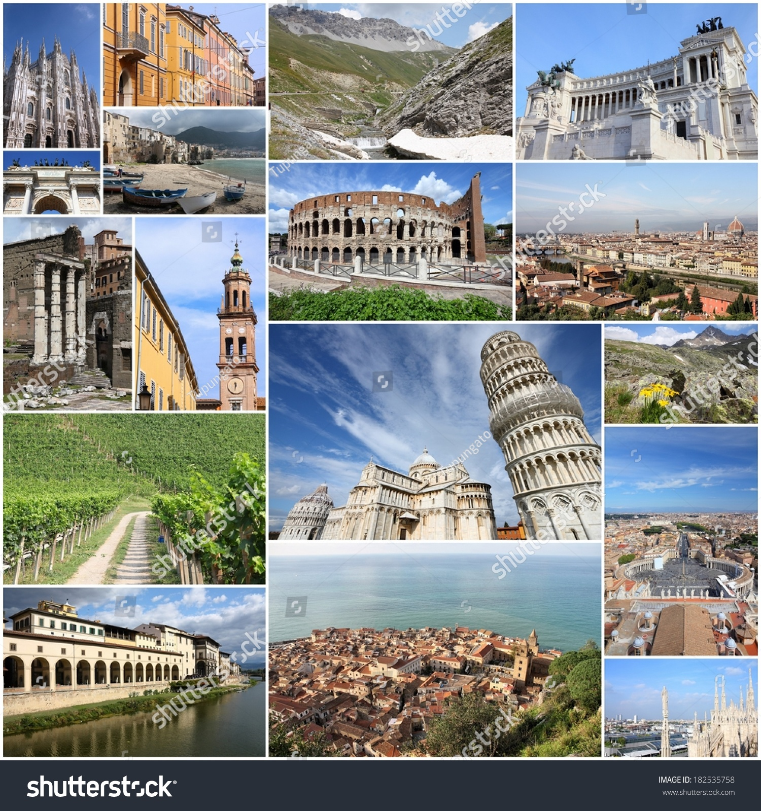 Collage Italy Collage Includes Major Stock Download Now