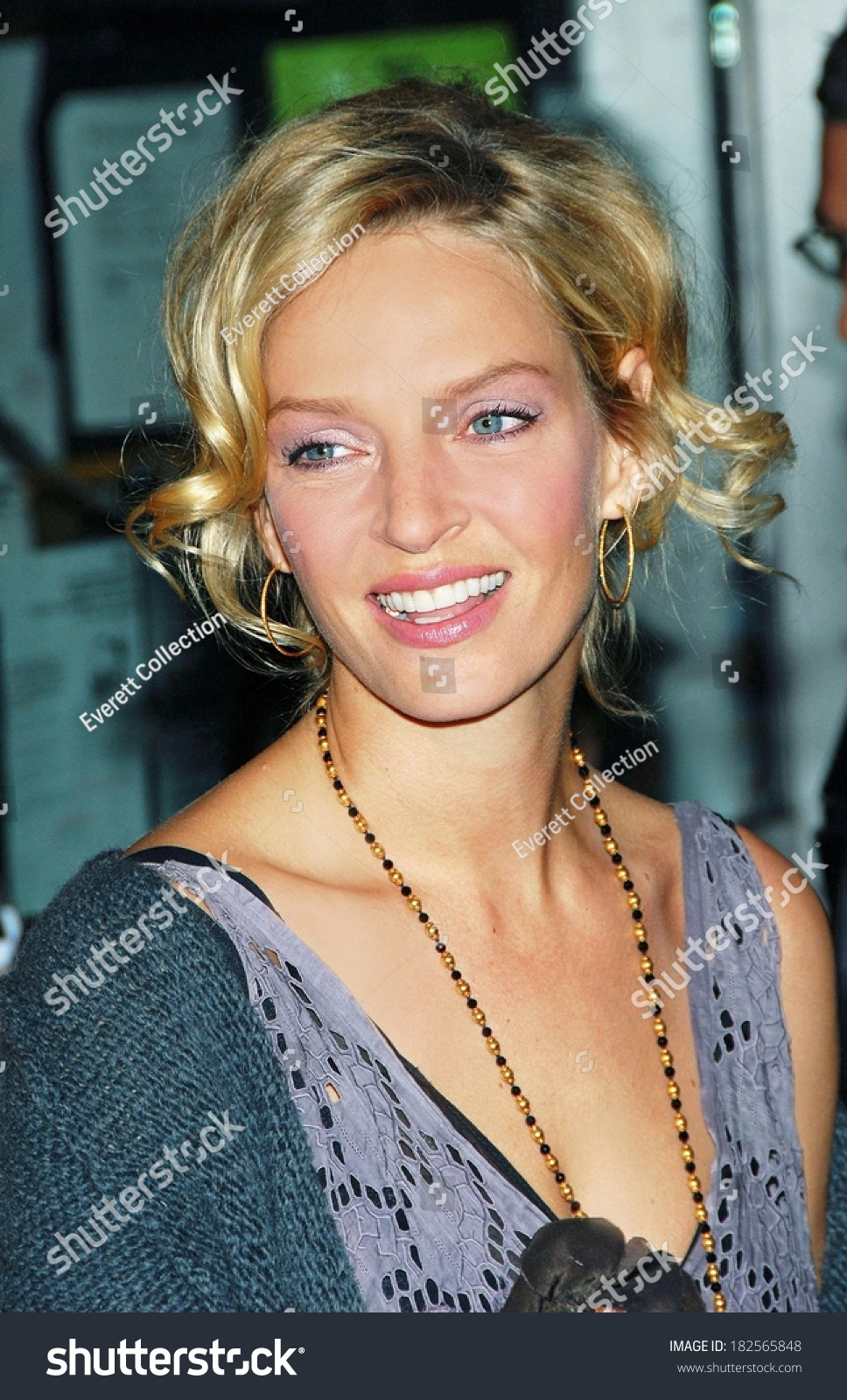 Uma Thurman Life Before Her Eyes Stock Photo 182565848 ... Uma Thurman