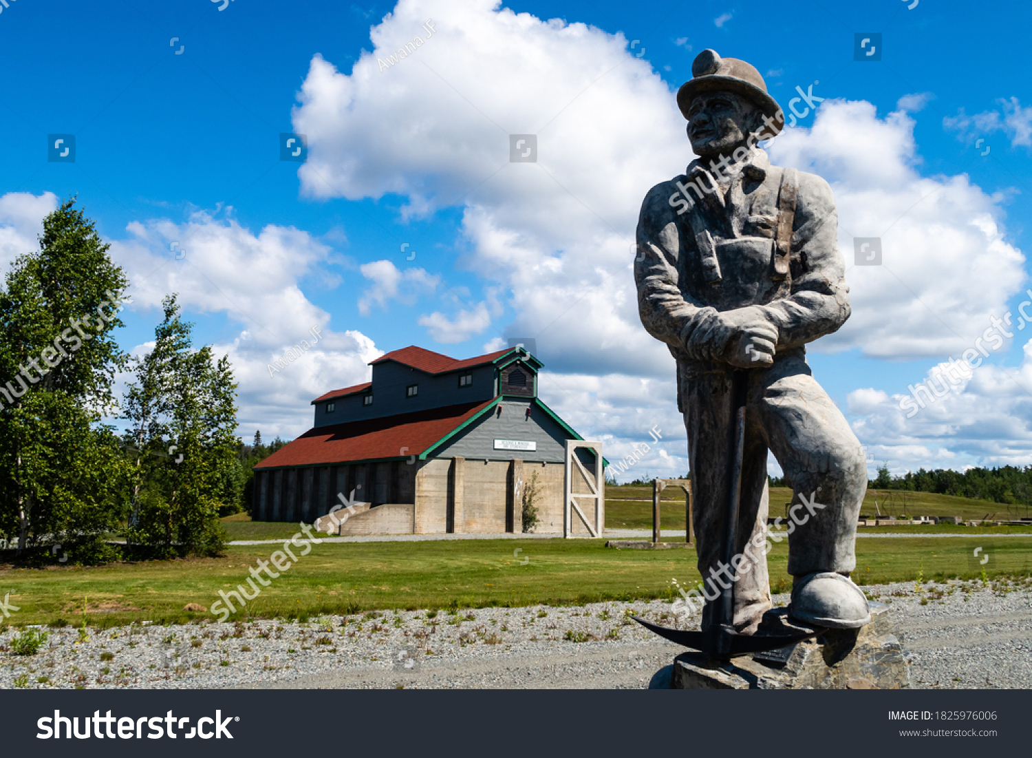 stock-photo-val-d-or-canada-july-statue-