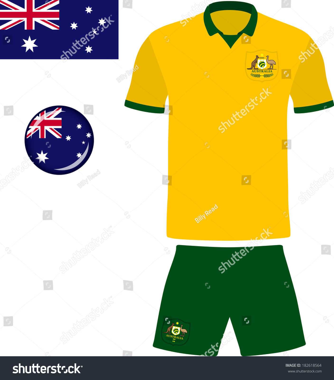 6b12cf81e Australia Football Soccer Jersey. Abstract vector image of the Australian  football team kit