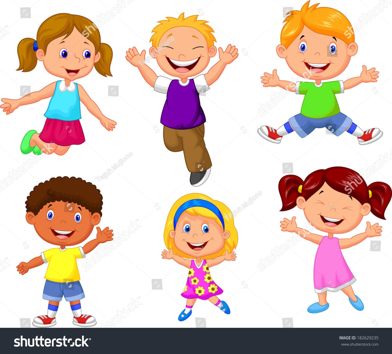happy kids cartoon 182629235 - Kids Cartoon Picture