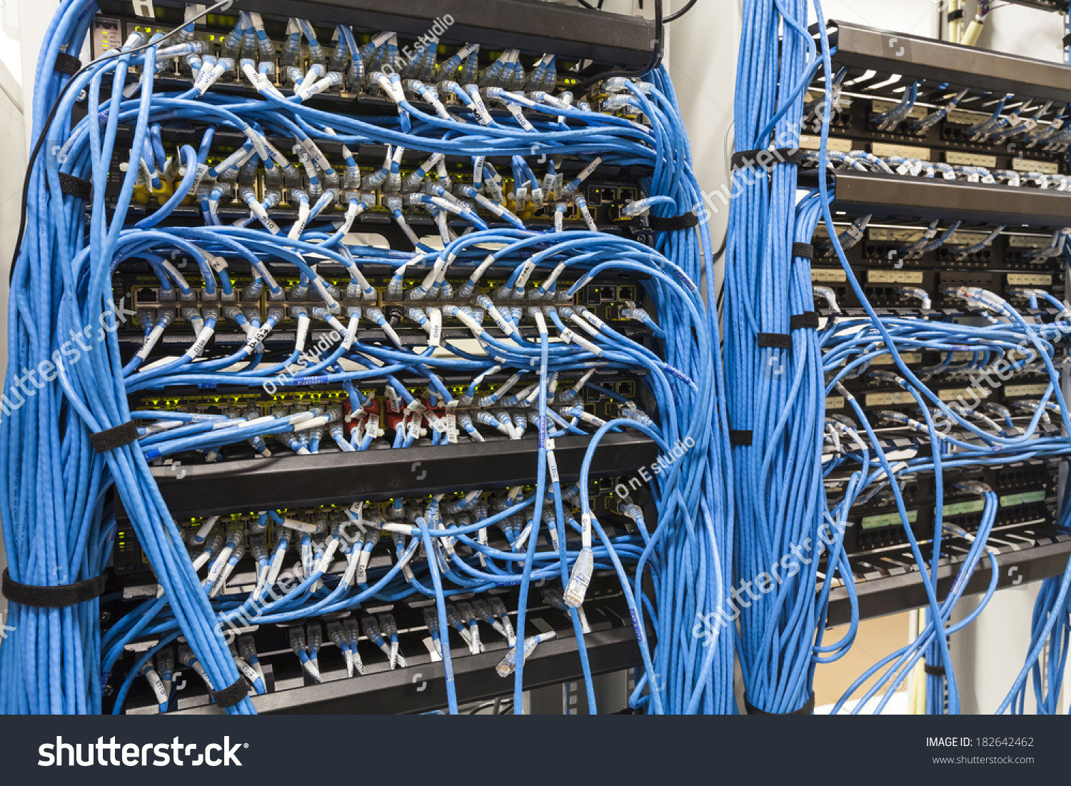 Rack Cables Plugs Lan Stock Photo Edit Now 182642462 Plug Wiring With And