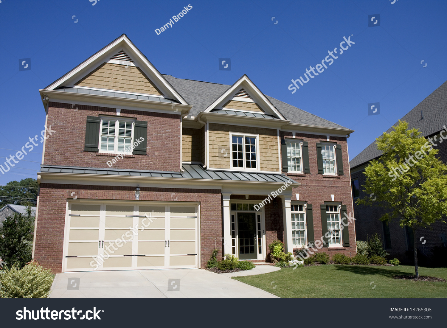 Nice house brick wood siding clear stock photo 18266308 Nice house music