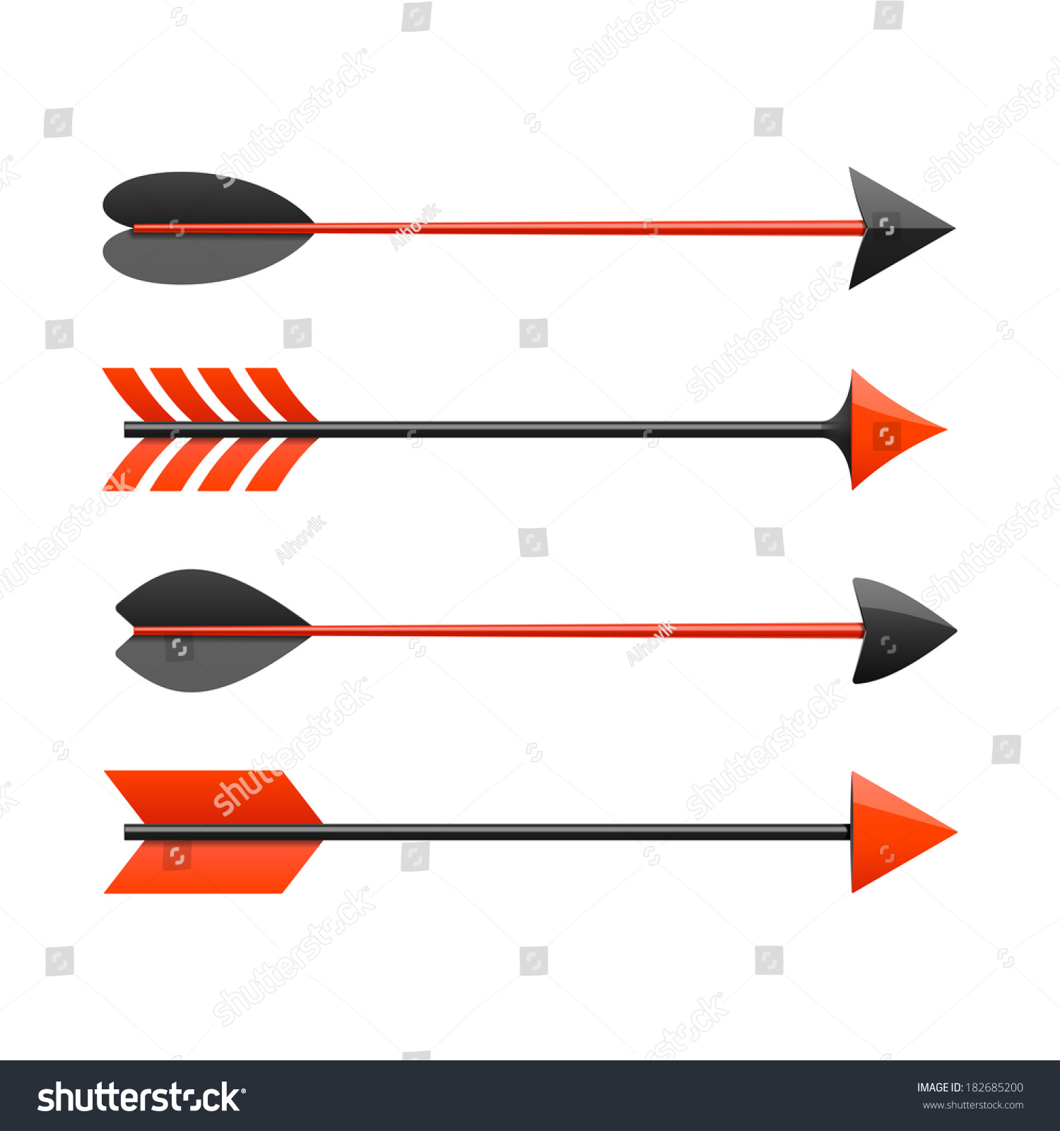 Bow Arrows. Vector. - 182685200 : Shutterstock