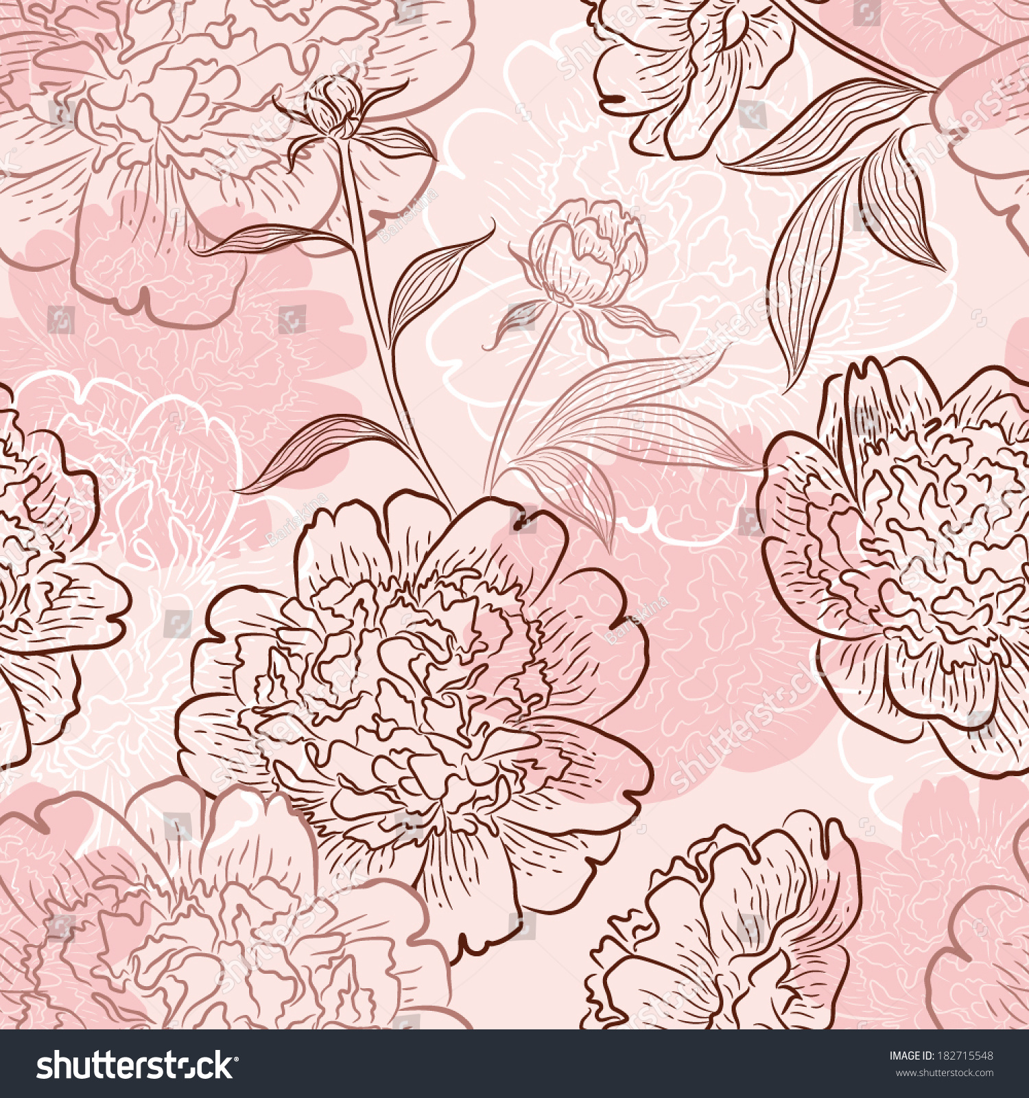 Ornamental Flower Background. Seamless Pattern For Your