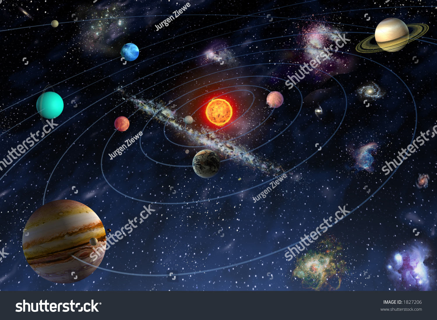 Diagram Of The Planets In The Solar System Stock Photo ...