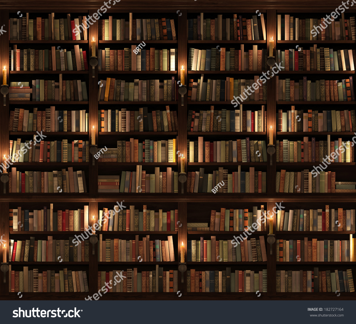 Twostoried Bookshelf Seamless Texture Vertically Horizontally ...