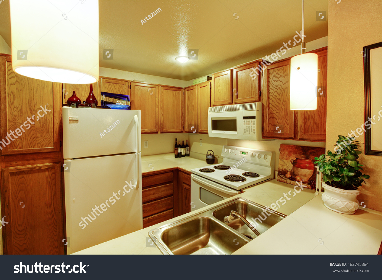 kitchen with appliances and a beautiful interior | EZ Canvas