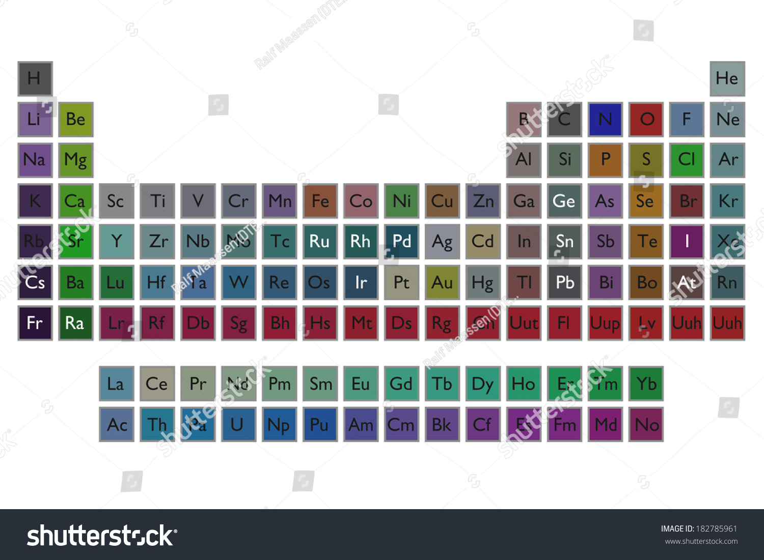 Periodic table elements on white background stock illustration a periodic table of the elements on a white background gamestrikefo Gallery