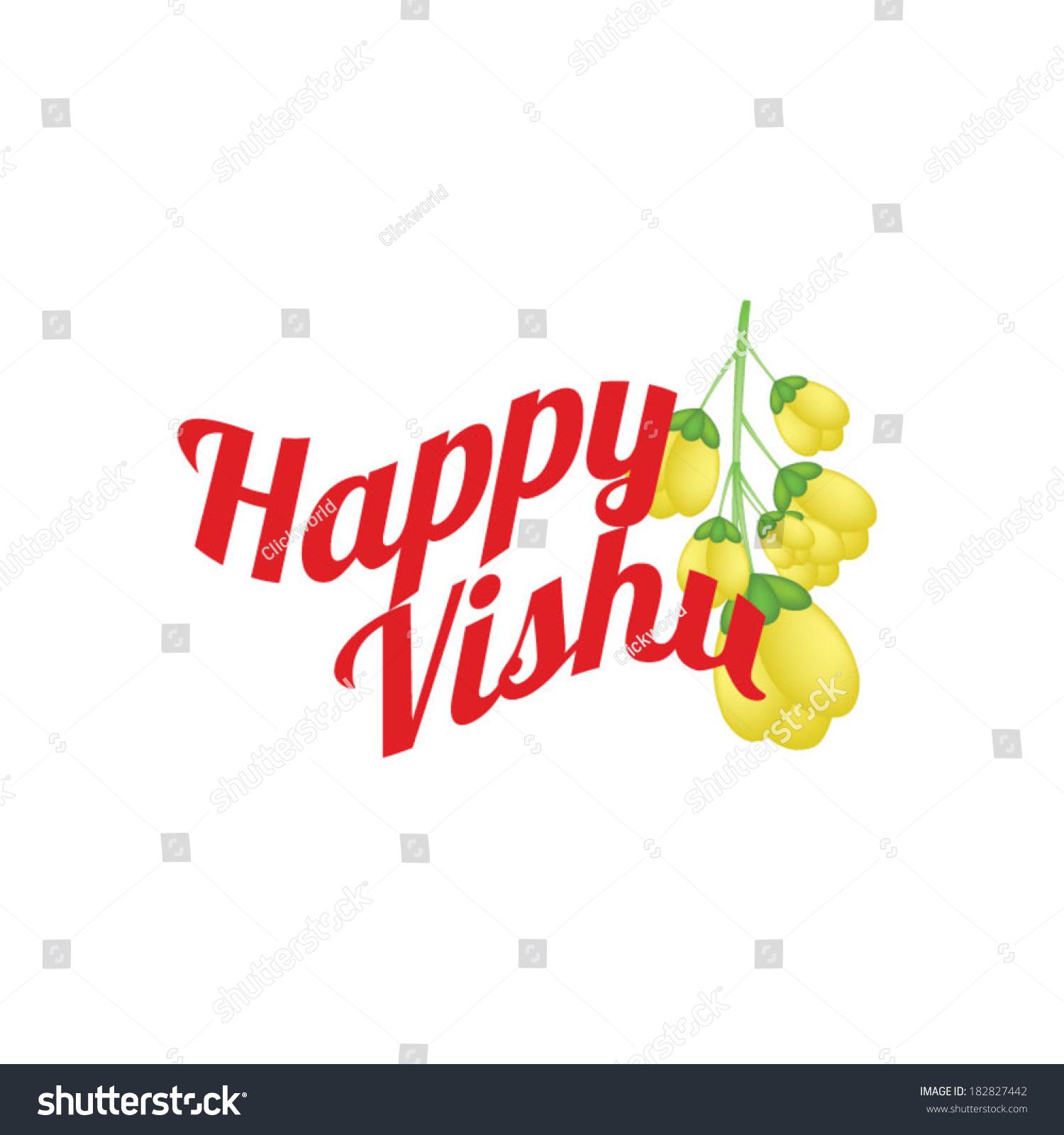 Happy Vishu Indian Festival Stock Vector Royalty Free 182827442