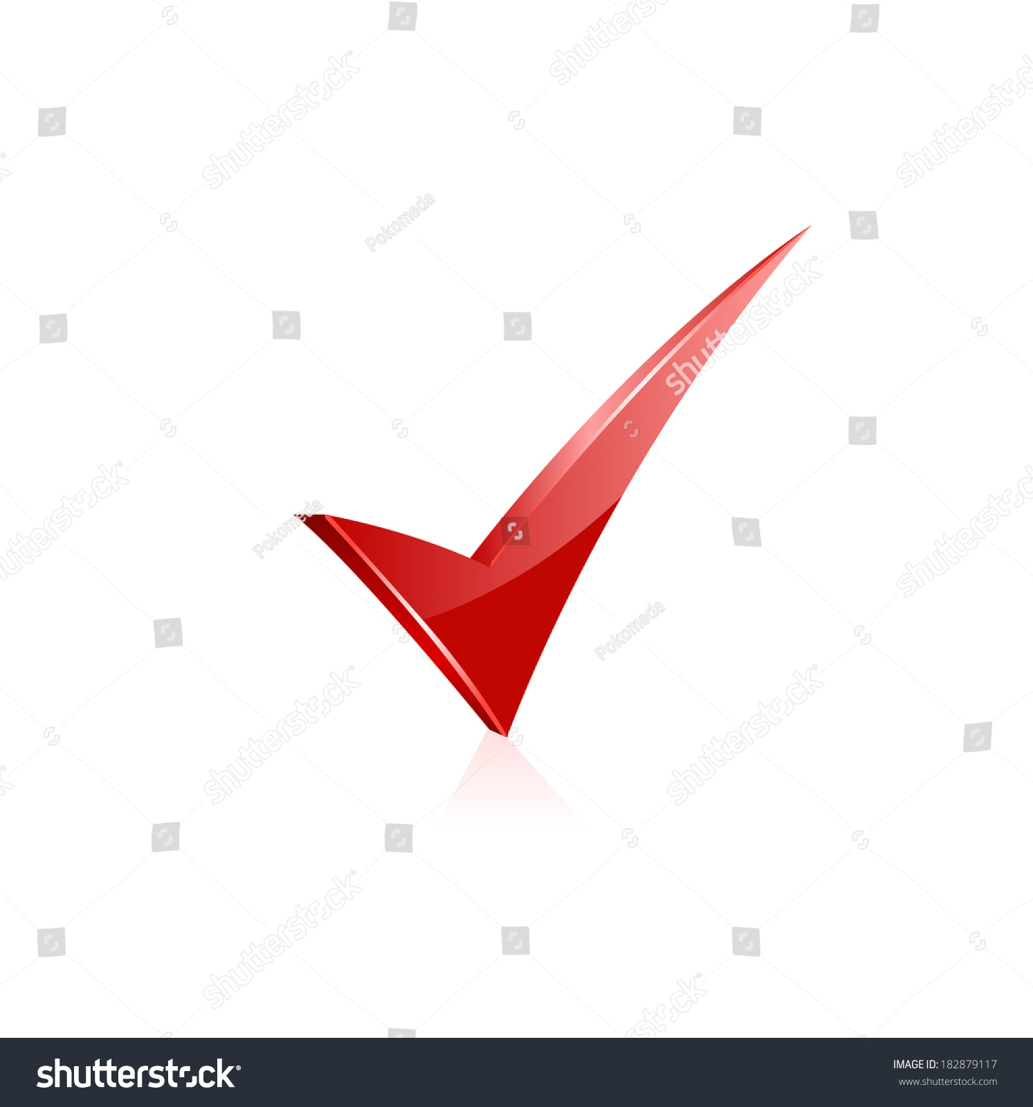 3d Render Of Red Check Mark Isolated On White Ez Canvas