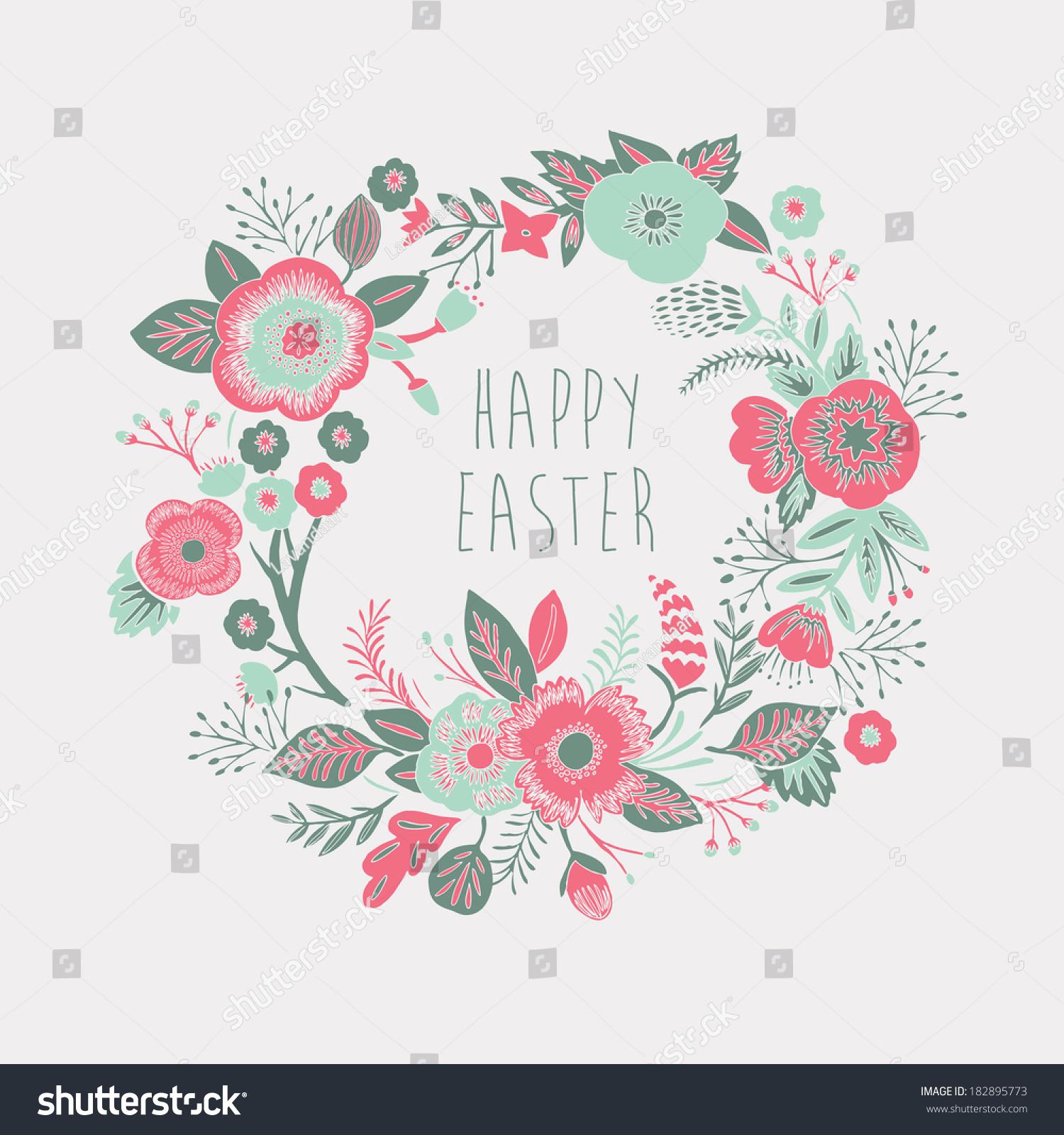 Happy Easter Card Stock Vector 182895773 - Shutterstock