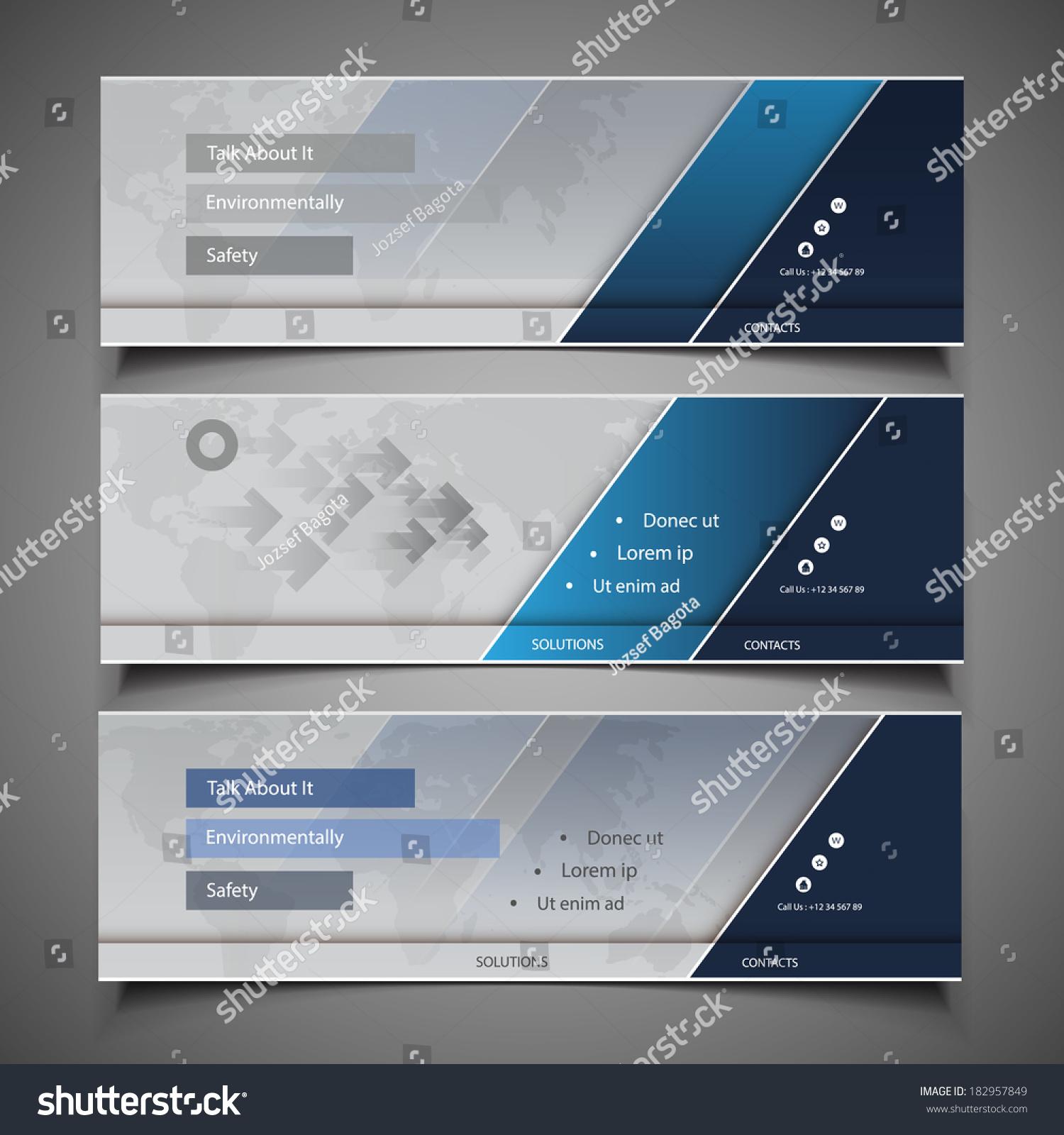 Web Design Elements Header Design Stock Vector (Royalty Free ...
