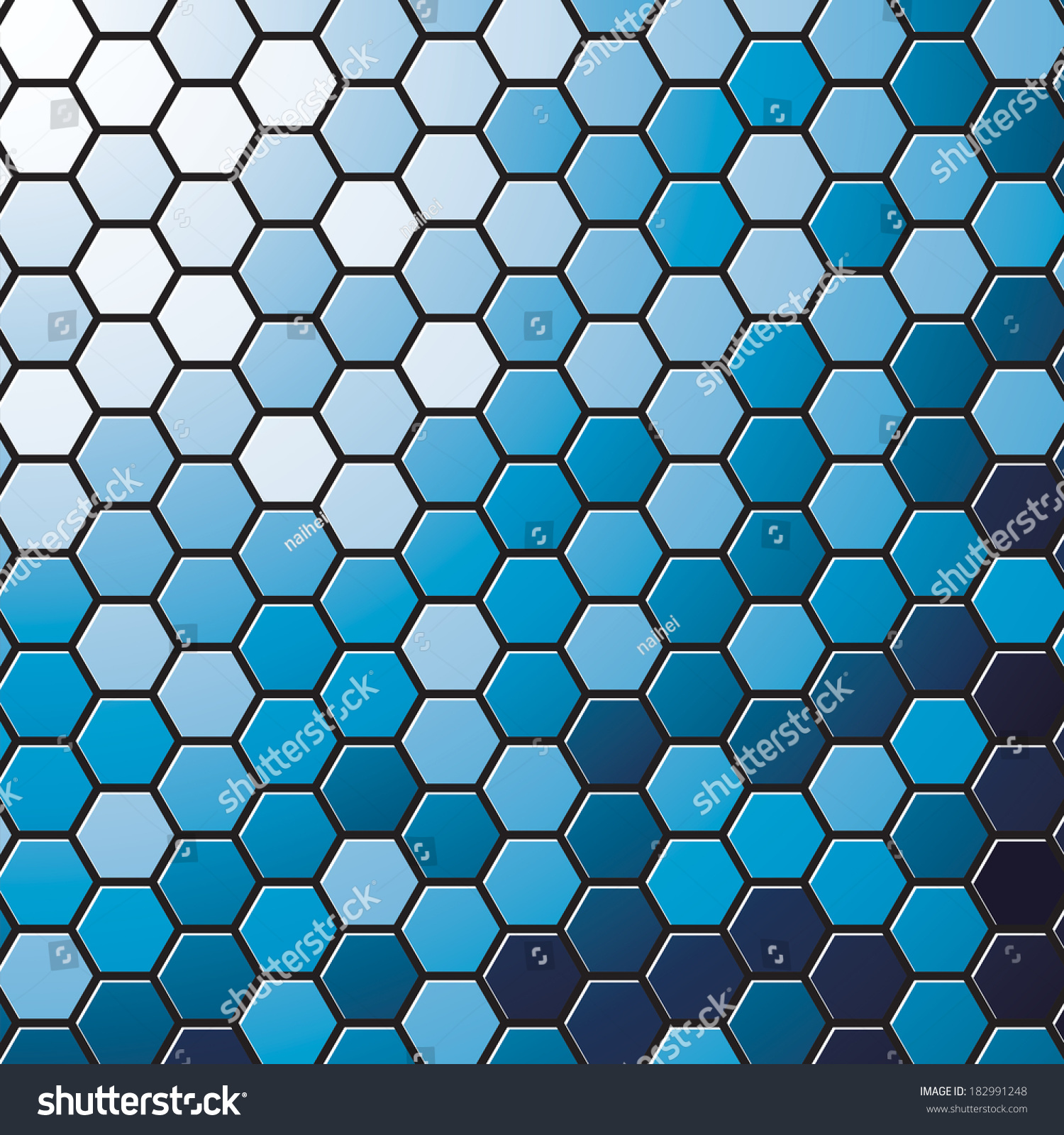blue hexagonal pattern vector - photo #21
