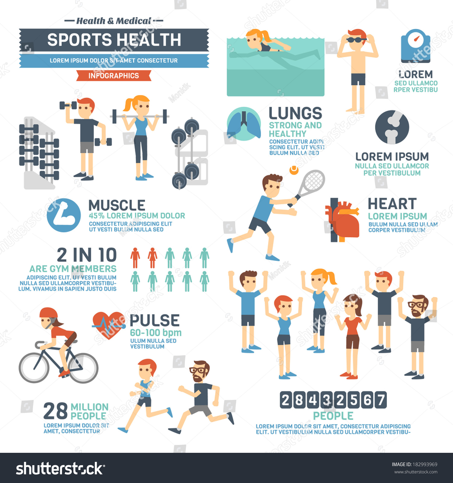 Sports infographic template for Sports infographics templates