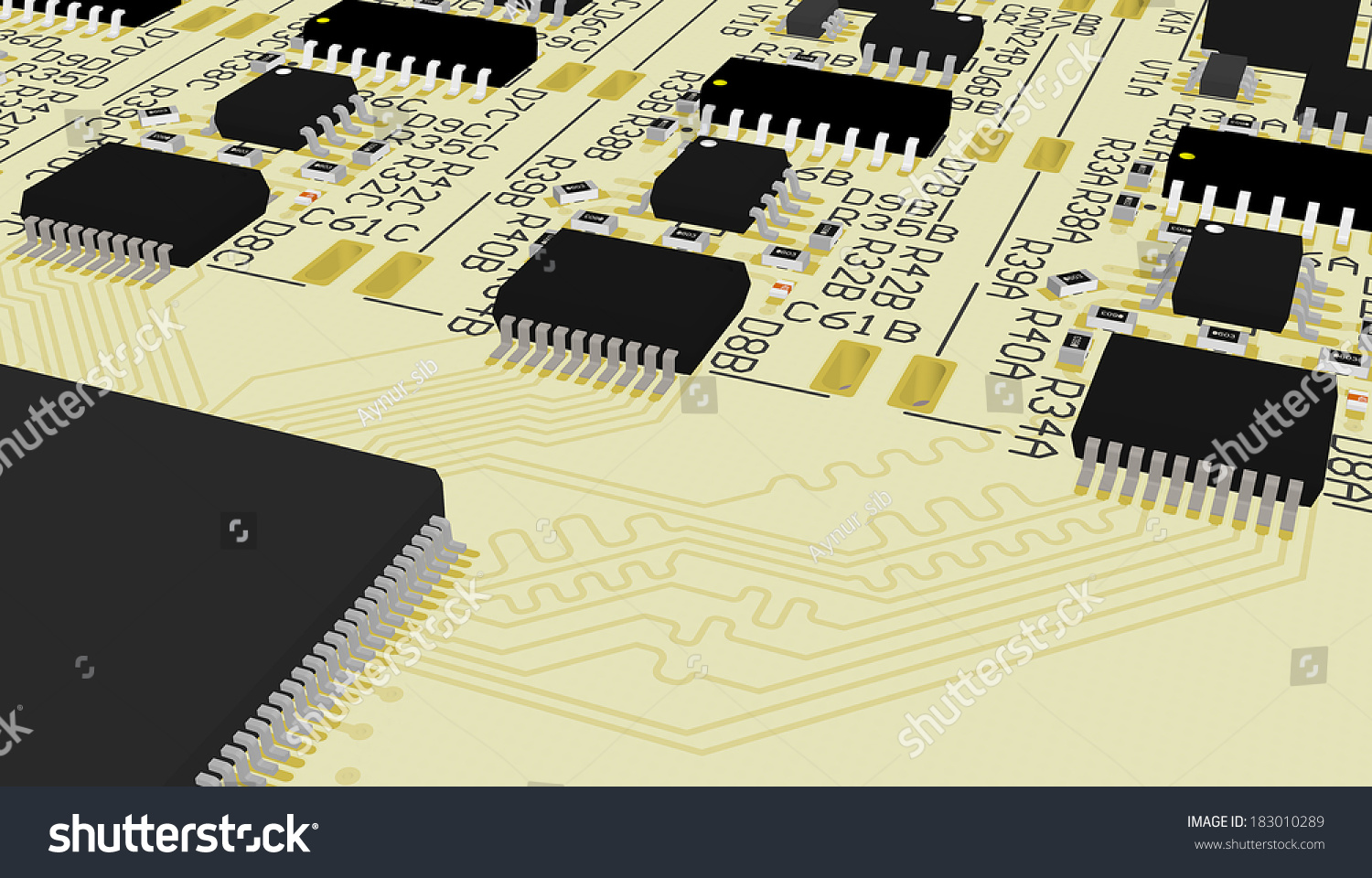 Royalty Free Stock Illustration Of Pcb Device Design Wiring The Printedcircuitboard 3d Photography Schemeprinted Circuit Board Cad Designed For Computer Production Manufacturing Printing